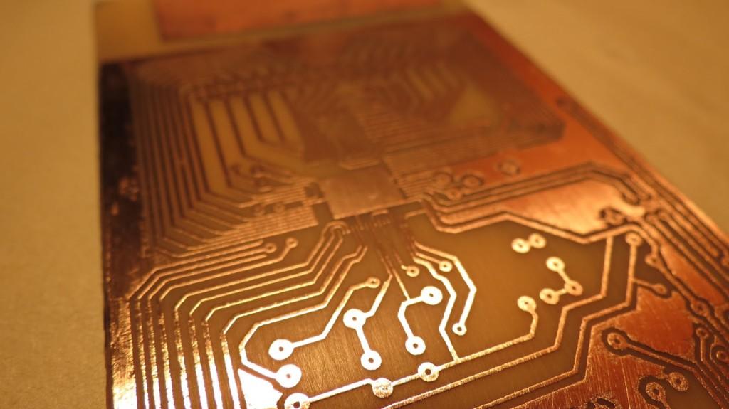 resultado final placa de circuito impresso